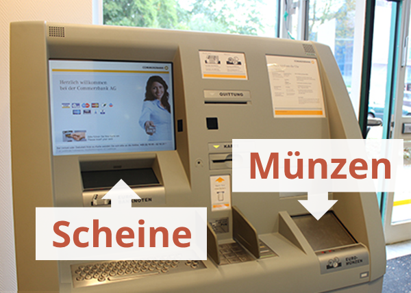 Bareinzahlung Commerzbank Automat